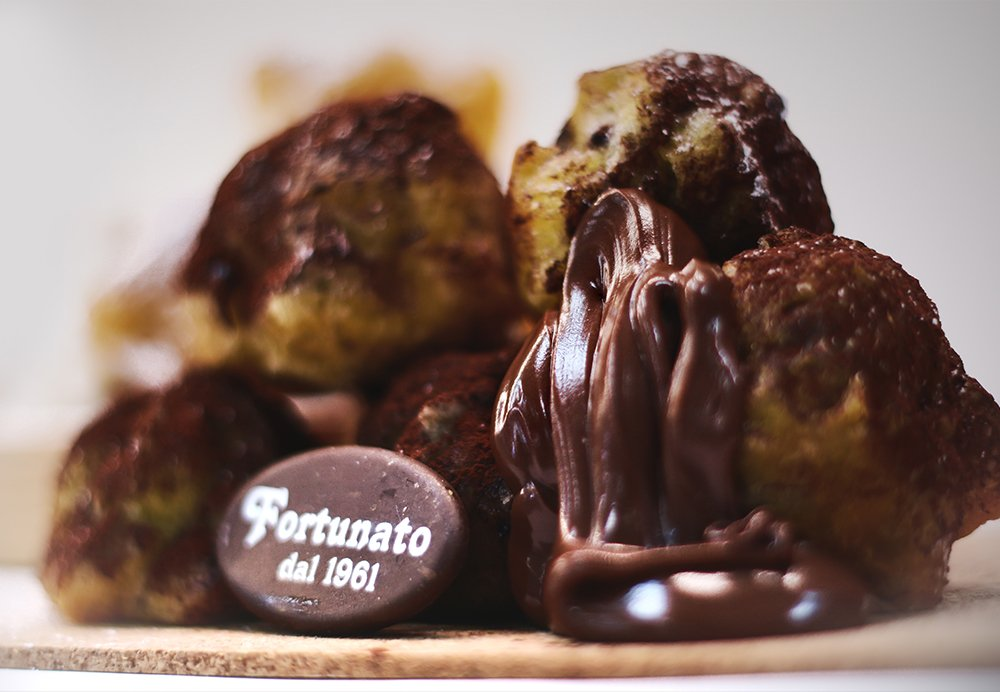 castagnole-cioccolato